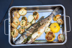 You can almost taste the freshness of this fish recipe in this photograph