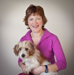 Caroline Trotter with her dog Mungo – proving pets and people make great photos!